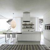 High Gloss White Color Matt Lacquer Finish Modern Kitchen Furniture (ACS2-L304)