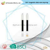 Phone Data Wire Mobile Cable Mobile 3 in 1 Magnetic Date Wire Keyring/TPE+ABS Material Easy Change Between Type-C iPhone Android Printing Customization Logo