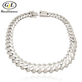 Wholesale Cheap Fine Imitation Diamond Zircon Stainless Steel Gold Copper Wedding Jewelry for Woman Men 925 Sterling Silver Hip Hop Cuban Chain Fashion Jewelry