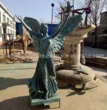Elegant Outdoor Garden Angel Statue Bronze Sculpture (B055)