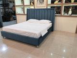 Velet Fabric High Headboard Sofa King Bed Bedroom Furniture