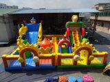 Double Inflatable Slide Fun City Kids Funny Amusement Park