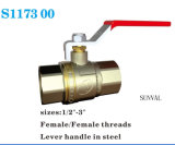 "New Style Bsp 600 Wog High Quality Red Long Handle 1""Brass Valve"