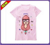 Fashion Lovely Cotton Printed T-Shirt for Women (W307)