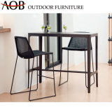 Modern Wholesale Garden Living Hotel Poolside Rope Woven Bistro High Stools Dining Table Bar Furniture