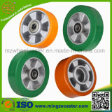 Elastic Polyuerthane Mold on Aluminium Core PU Wheel for Caster