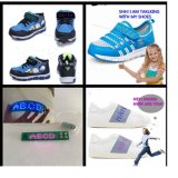 5X25pixel Shoes Sole Vamp LED Light Scrolling Text Flashing Shoes Light Battery Power LED Strip Light