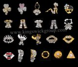 Flower Bow Gold Metal Pearl Diamond Alloy Rhinestones Nail Art Jewellery