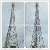 3 Legged Galvanized Lattice Self-Supporting Triangular Transmission Line Angle Steel Tower
