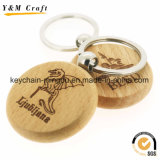 Wholesale High Quality Promotional Customize Printing Logo Blank Wood Keychain