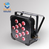Cheaper Price High Quality Rasha 6in1 Rgbaw UV Wireless LED Flat PAR Light for Wedding Party Event DMX Stage Lighting