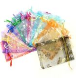 Organza Drawstring Pouches Jewelry Party Wedding Favor Gift Bags, Mesh Gift Pouches