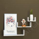 Floating Wooden Wall Shelf U Shape Book Shelf Display Board Set of 3