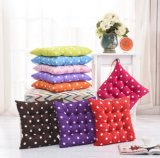 Hot Sales Printed Square Cotton Seat Cushion Chair Pad, White Pots of Office Chair Pads