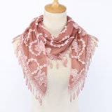 2020 New Arrival Soft Polyester Luxury Lace Decoration Hijab Scarf for Women