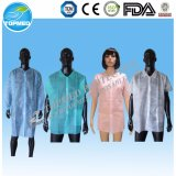 Cheap Nonwoven Polypropylene Lab Coats, Protecting Smock Gown, Medical Disposable Coats