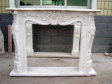 Customized Design Natural Marble Yellow Limestone Fireplace Mantel for Home Decorating