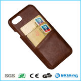 Leather Back Case Cover with Card Slots for iPhone 7 / 7 Plus