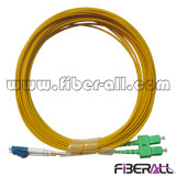 Sc/APC-LC/PC Optical Fiber Patch Cord Sm Duplex