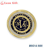 Round Shape Hard Enamel Gold Lapel Pins for Security