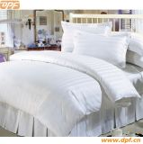 White Hotel Bedding Set with Stripe Design DPF9048