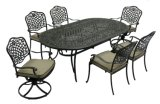 Cast Aluminum 7PCS Patio Outdoor High Quality Backyard Dining Set Furniture