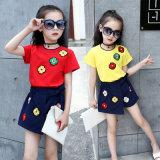 Kids Cotton Embroidered T-Shirt Children Short-Sleeved Skirt Dress