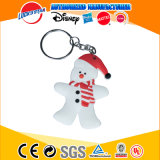 China Factory Christmas OEM Plastic PVC Keychain Custom Key Ring Key Chain for Promotion