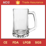 New Arrival 15oz Dinnerware Sport Handled Beer Glass Mug