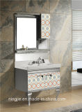 Stainless Steel Bathroom Cabinet Bathroom Corner Cabinet White Wholesale Bathroom Cabinet (T-957)