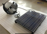 Battery Support 15watt 12inch Wall Mounted Solar Exhaust Fan with 25W 9.6ah Battery System (SN2013014)