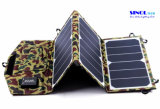 19.5W Dual USB Output Folding Solar Power Charger for Backpack with Hanging Hoops (FSC-19.5A)