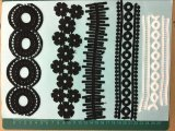 Black Color Polyester Lace Trimming Ym-1124