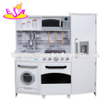 2020 Unique Design Kids White Wooden Play Kitchen with Electronic Functions W10c223