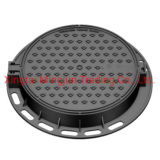 Factory Supply Sewer Power Telecom Ductile Iron Round Manhole Cover En124 C250 D400