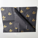 Cheap Personalized Christmas Wrapping Tissue Paper with Shine Gold Logo
