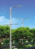 Solar Powered Energy LED Steet Lighting Lamp Metal Steel Tube Mono Pole
