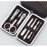 8 7PCS Promotion Gift Beauty Manicure Set with PU Case