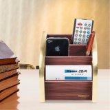 Golden Edge Wooden Stationery Organizer for Office Stationery Storage
