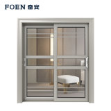 Custom Silvery Standard 6082 Wood-Grain Transfer Aluminum Profile Door at Wholesale Price
