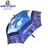 Windproof Custom Promotional Golf Umbrellas All Over Print