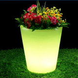 Battery Operated Party Lights RGB LED Table Furniture Plastic Flower Pot for Sale