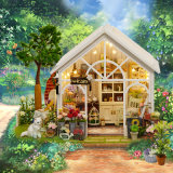 DIY Doll House Wooden Doll Houses Miniature Dollhouse Furniture Kit Toys for Children Gift Doll Houses Sunshine Greenhouse