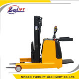 Small Radius 1t 1.2t 1.5t 2t 6000mm Lift Height Powered Stacker Reach Truck