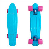 22inch PP Mini Skateboard Cruiser Complete Skateboards Banana Skateboard Plain Tiffany Blue-19