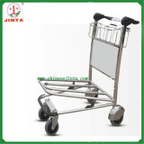 Stainless Steel Airport Trolley with Auto Brake, Airport Luggage Trolley
