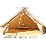 4 Season Cotton Family Clamping Big Camping Luxury Canvas Bell Tent