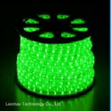 Decoration Light 2 Wire Green Vertical Round LED Rope Light