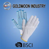 7 Gauge Knitted Cotton PVC Dotted Safety Work Glove