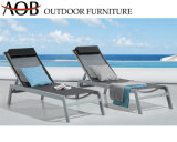 Contemporary Outdoor Poolside Seaside Hotel Lounge Furniture Aluminum Chaise Lounge Beach Chair Sun Lounger with Cushion